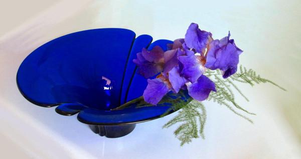 Ирис в синей вазе