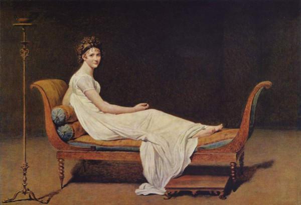 Жак Луи Давид, «Портрет мадам Рекамье», 1800, Лувр