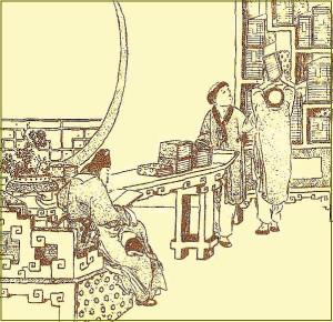 Ученый в библиотеке