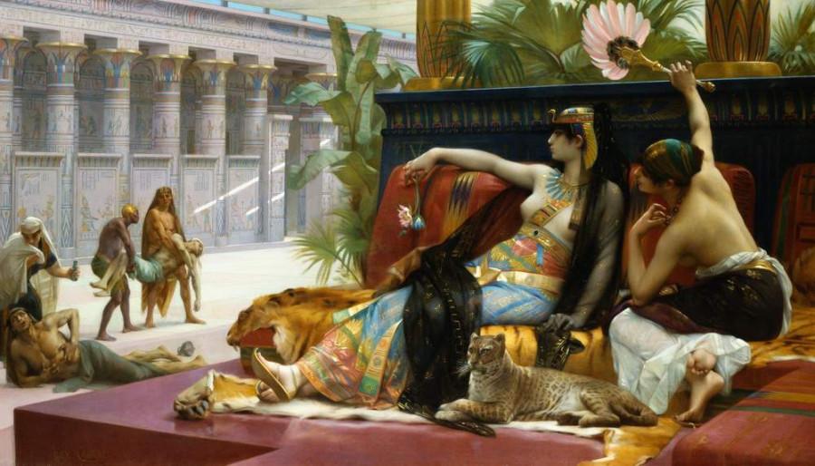 Кабанель. Клеопатра, испытывающая яд на заключенных