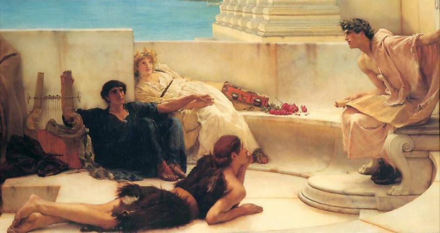 Альма-Тадема. Чтение из Гомера, 1885