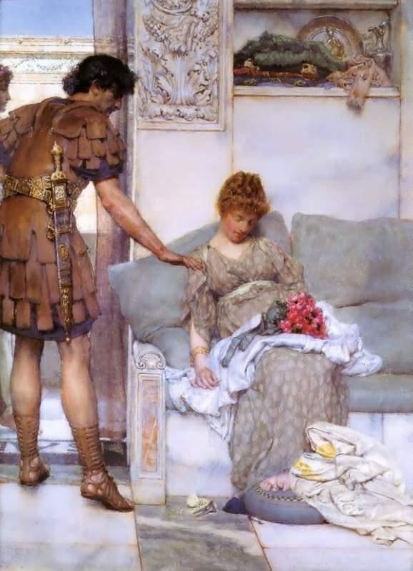Альма-Тадема. Тихое приветствие, 1889