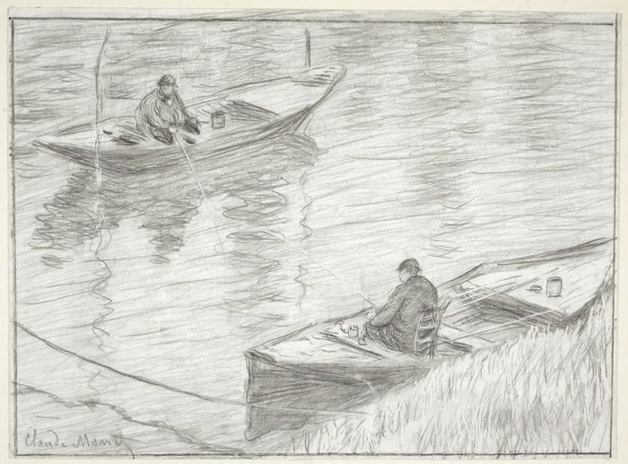 Two Men Fishing, 1883 1