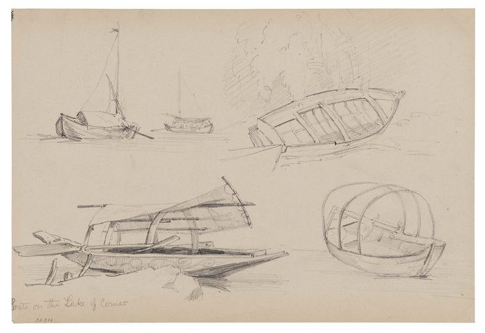 Sketch of Boats on Lake Como1