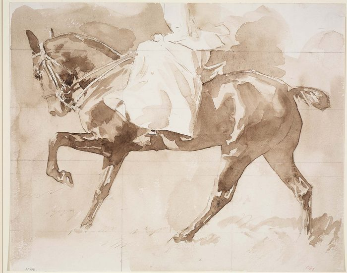 Sketch of a Lady on Horseback, Sidesaddle1