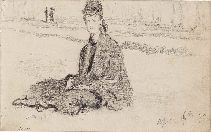 Woman Seated on the Ground1