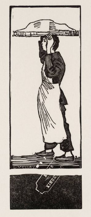 PISSARRO, Lucien 1863-1944 Le Patissier circa 1884, reprinted 1981 Wood-engraving 165 x 581
