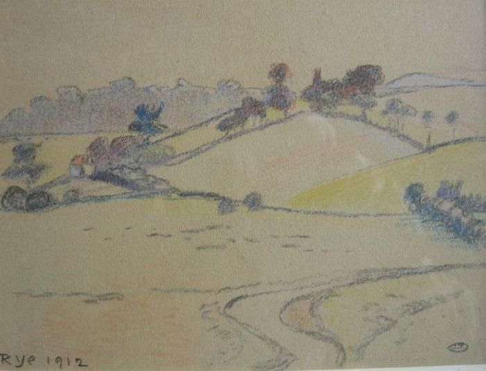 Chalk and ink drawing from 1912