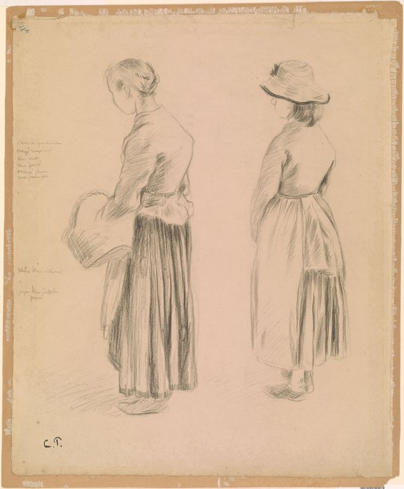 Two Peasant Women, Study for Les Mendiantes1