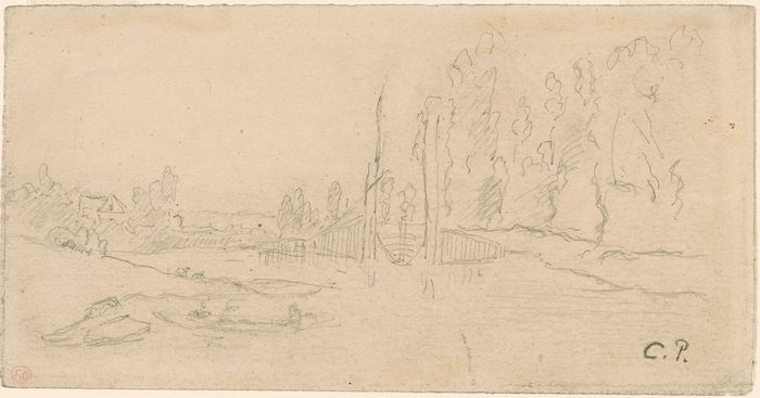 A Canal Lock with Poplars1