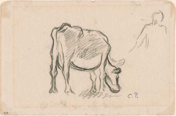 A Cow and Peasant. Versщ Study of a Cow.1