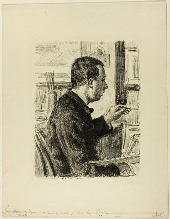 Paul Signac, n.d. литография на кремовом ватмане1