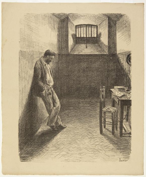 Self portrait in Mazas Prison, 18941