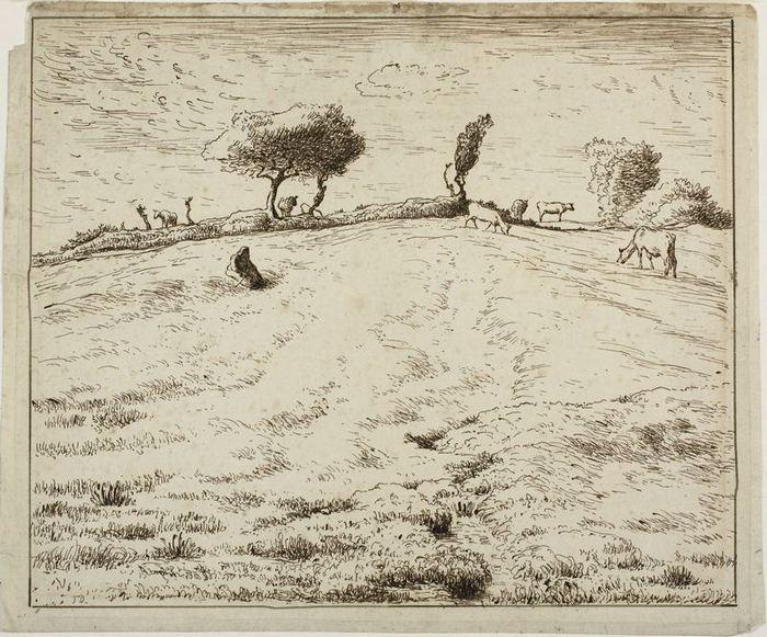 Landscape - Hillside in Gruchy, Normandy, 1869-70