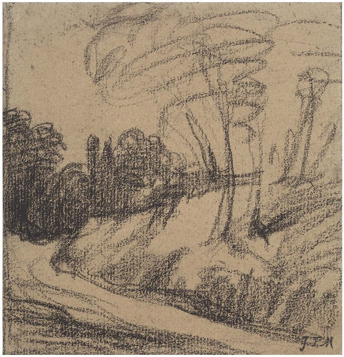 Landscape Sketch with Road ab 48-50