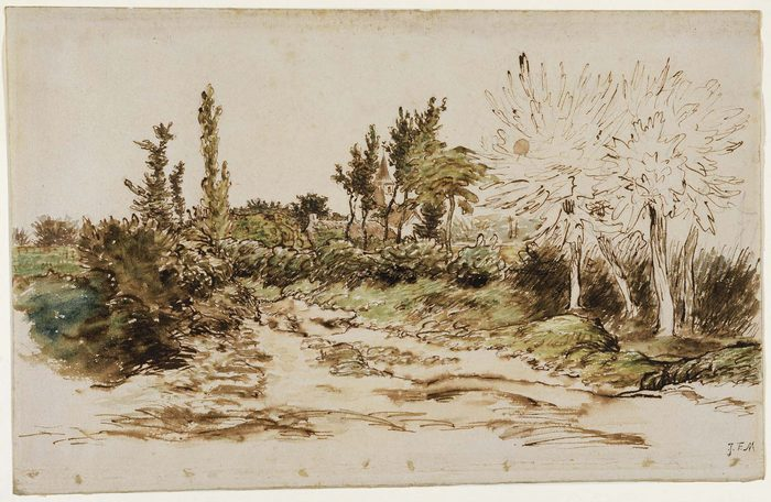 Landscape with a Church near Vichy 66-67