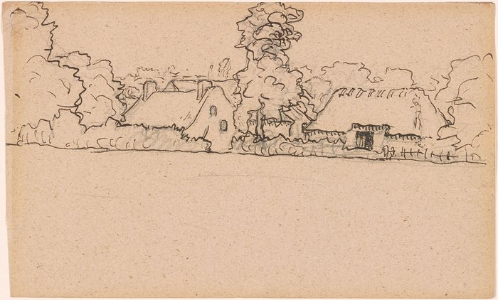 Study of Houses and Farm Buildings, probably Gruchy