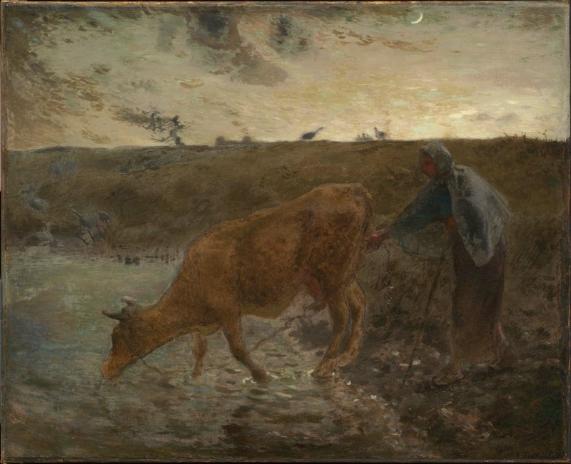 Peasant Watering her Cow, Evening 73-74