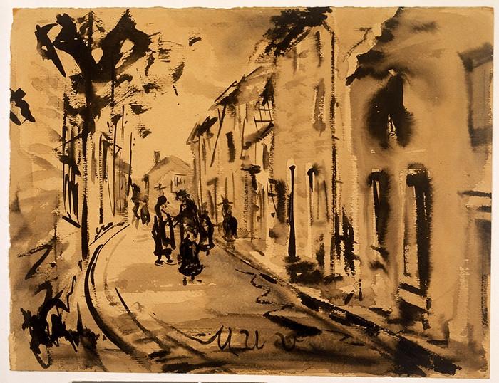 Street Scene with Figures