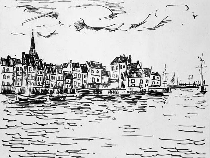 Havneparti, Honfleur1