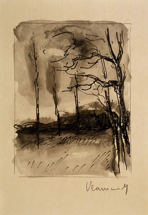 Landscape; Trees on a Hillside1