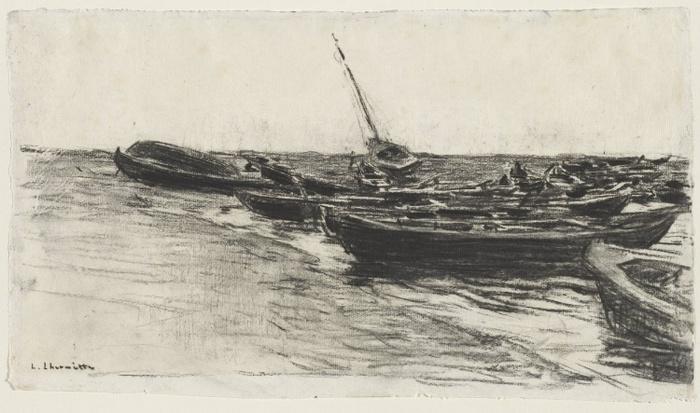 Boats on the Beach, c. 1874-811