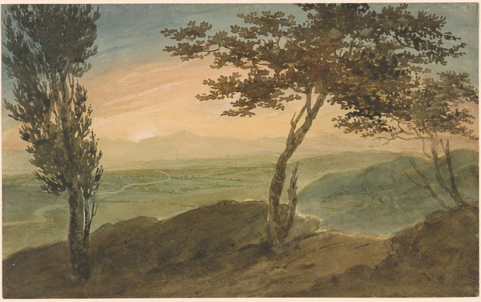 Landscape in the Auvergne attributed1