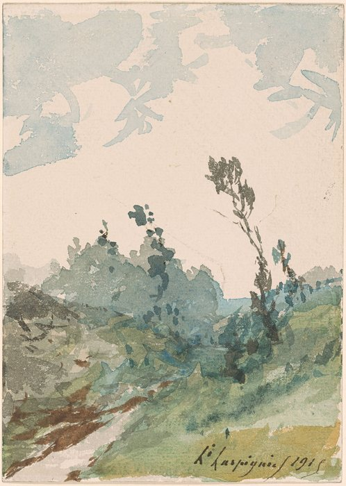 Study of a Wooded Landscape1