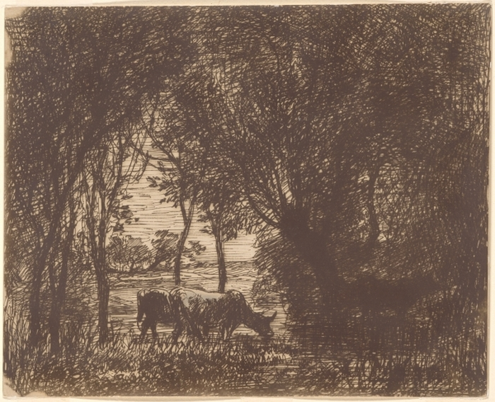 Cattle Beneath the Trees, 1862