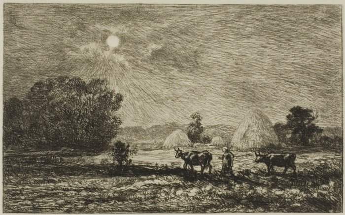 Moonlight at Valmondois, 1877