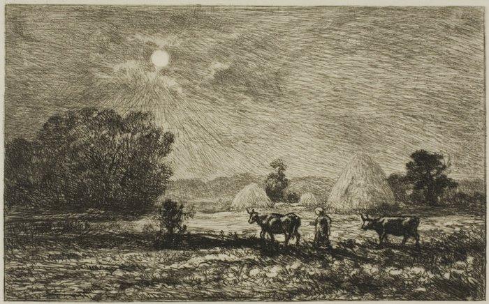 Moonlight at Valmondois, 1877