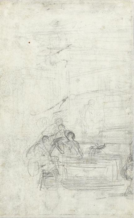 Schets voor figuren in een wijnperserij, 27-78