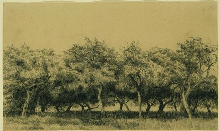 Verger normand (Obstgarten in der Normandie), um 1867-75