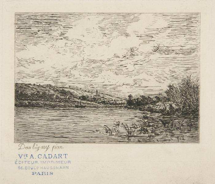 Vue d'Herblay (View of Herblay) possibly Karl