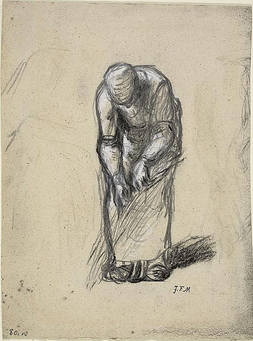 Study for Flax Pulling, c. 18521