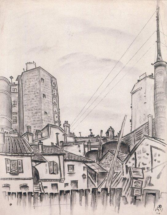Улица де ля Томб Изуар. Париж1927