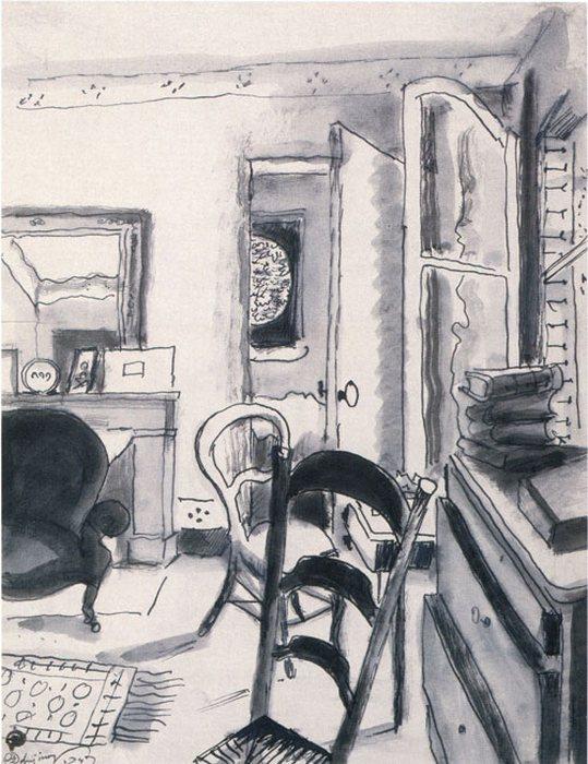 Интерьер в Бельвю. Розовая комната. Медон 1947