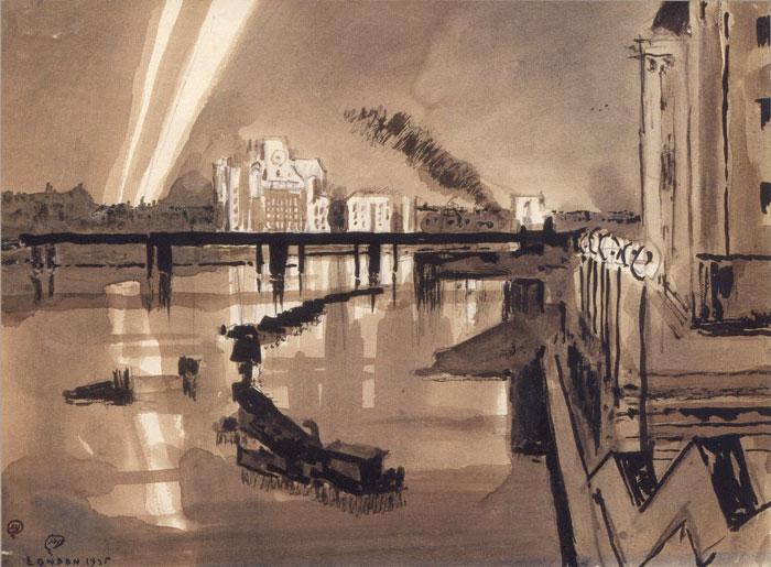 Ночь на Темзе. Лондон 1935