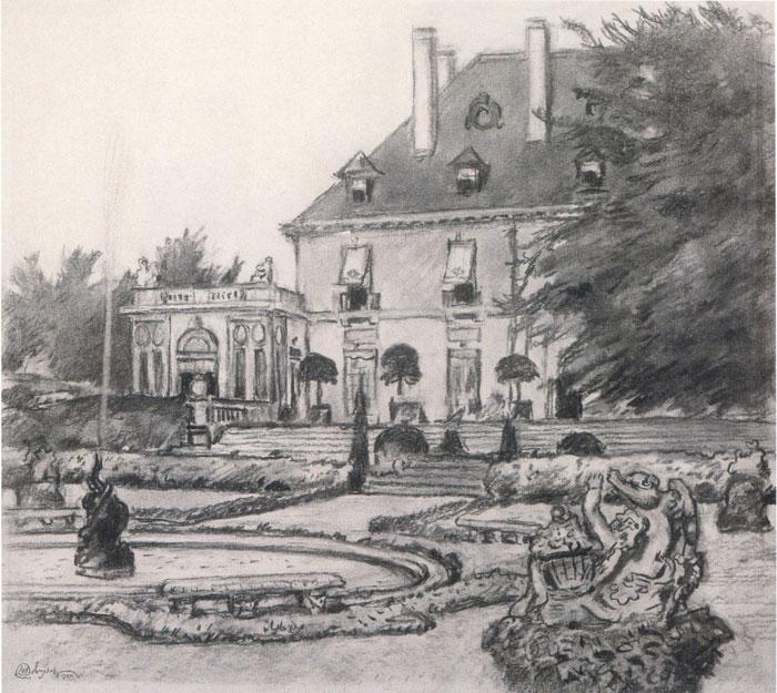 Парк перед домом1945