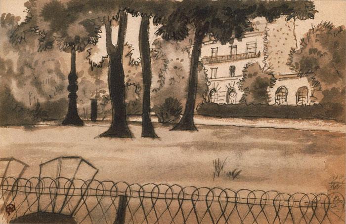 Пейзаж. Париж 1947