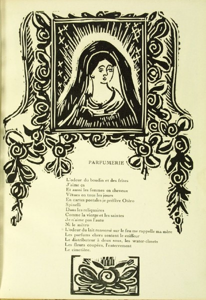 Illustration accompanying the poem Parfumerie,