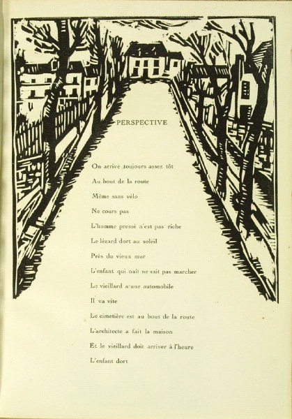 Illustration accompanying the poem Perspective,