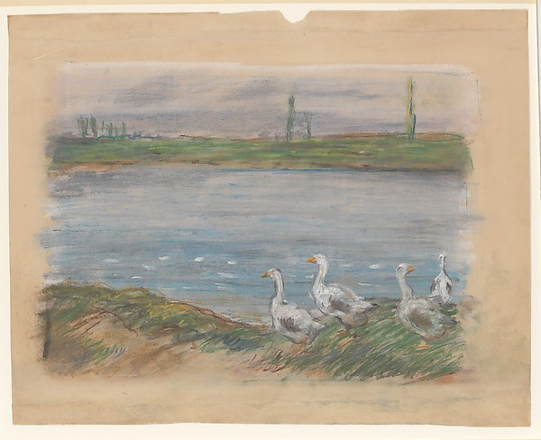 Four Geese By a Pond