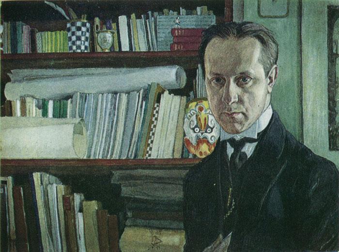 Автопортрет. Гуашь, акварель. 1910