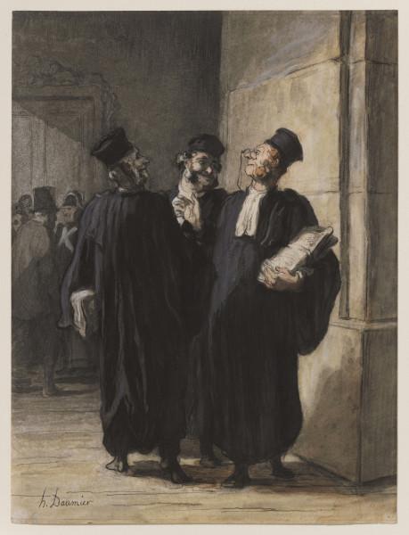 Three Lawyers Conversing