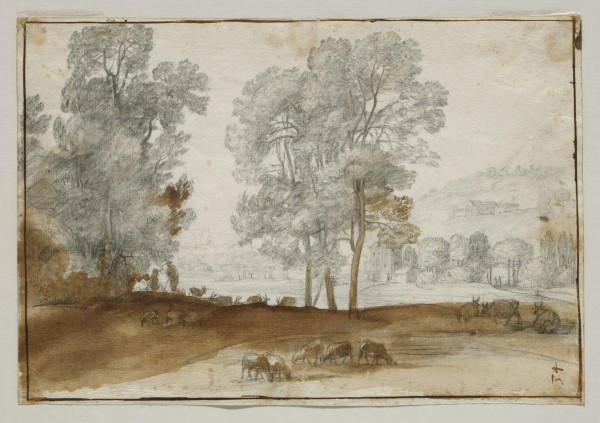 Pastoral Landscape with Trees