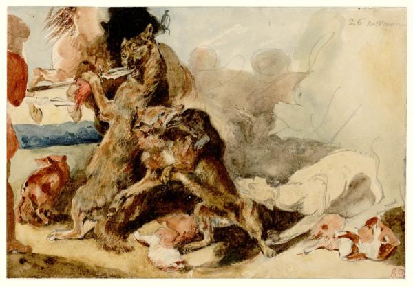 La Chasse au loup et au renard d'après Rubens