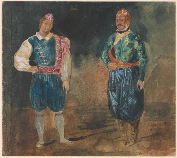 Two Figures in Cypriot Costume