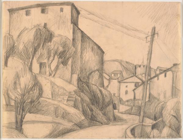 Huse ved en vej, 1922-1923