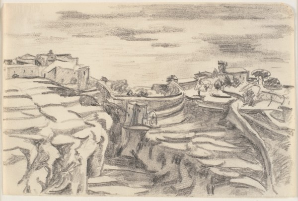 Bjerglandskab. Terrasser. Sicilien, 1951